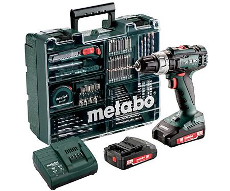 Аккумуляторный шуруповерт METABO SB 18 L Set Mobile Workshop
