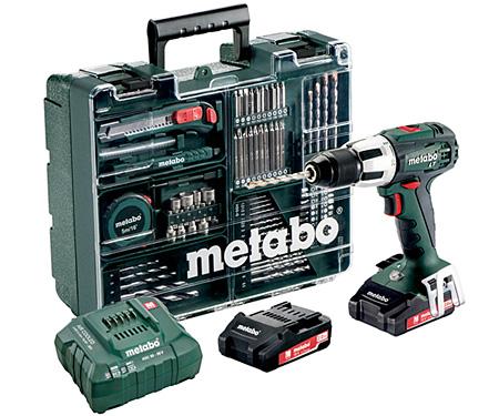 Аккумуляторный шуруповерт METABO SB 18 LT Set Workshop