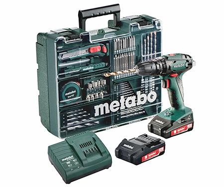Аккумуляторный шуруповерт METABO SB 18 Set Workshop