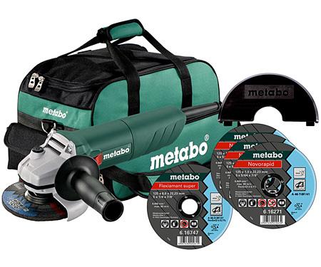 Болгарка METABO W 750-125 Set