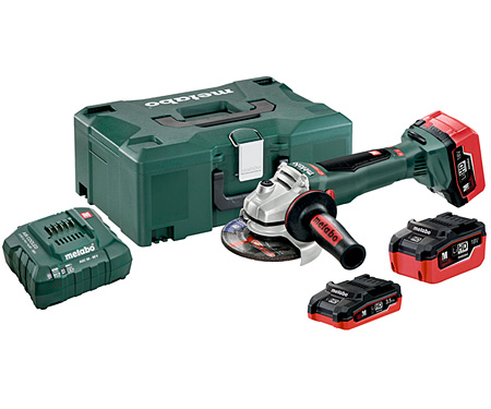 Аккумуляторная болгарка METABO WB 18 LTX BL 125 Quick Set